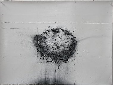 Bronwyn Taylor, Epicentre, 2009, charoal on gesso on paper