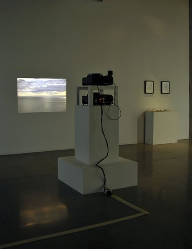 Sean Lynch, Preliminary Sketch for the reappearance of HyBrazil, 2007, installation shot