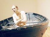 Ron Mueck, Man in Boat, 2002, mixed media. Image courtesy of Antony d'Offay, London