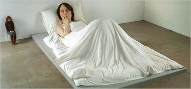 Ron Mueck, In Bed, 2005, mixed media. Image courtesy of Antony d'Offay, London