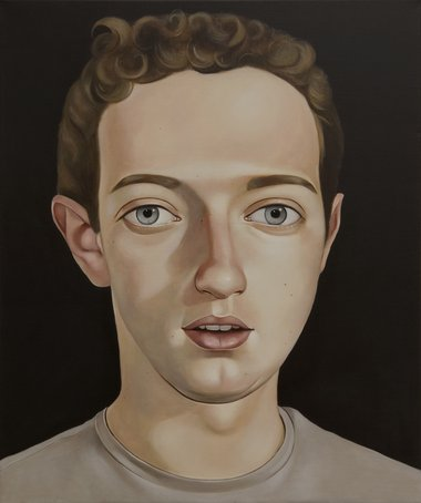Peter Stichbury, Mark Zuckerberg, 2010, acrylic on linen, 23 5/8 x 19 ¾ in.