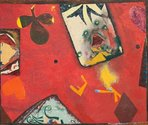 Philip Trusttum, Joker, 1975, oil on hardboard,  Auckland Art Gallery Toi o Tāmaki, purchased 1977