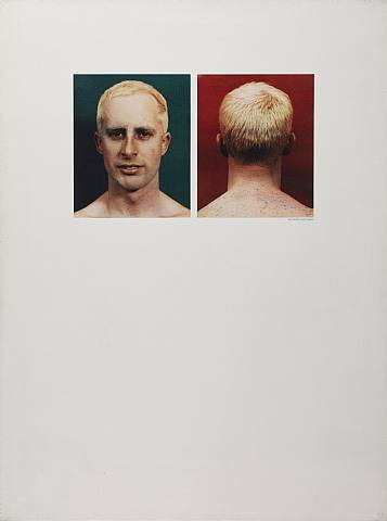 Billy Apple, Self Portrait, 1963, Offset photolithography on canvas, a triptych (Photograph: Robert Freeman, 1962), 102 x 77 x 3.2 cm each