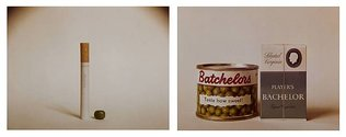 "Billy Apple, Homonym, 1963, Vintage colour photographs, Printed from 2 1/4"" sq 1963, Kodak Safety Film positive transparencies, diptych"