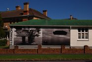 John Malcolm billboards on Sandringham Road, photo by Faye Norman.