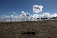 Hector Zamora, White Noise, 2011, performance at Bethells Beach