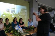 Friday night's flower arranging workshop at Suburban Floral Association's Shopfront at Letting Space