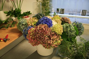 Flower arranging workshop on Friday night (detail) from Suburban Floral Association at Letting Space