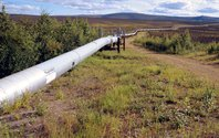 Center for Land Use Interpretation, The Trans-Alaska Pipeline, slides, text, and music.