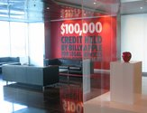 Billy Apple, $100,000 Credit Held, 2005, and in vitrine, The Billy Apple (R), 2008