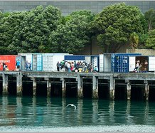 The Performance Arcade, Wellington. Te Papa waterfront. Photo by Phillip Merry.