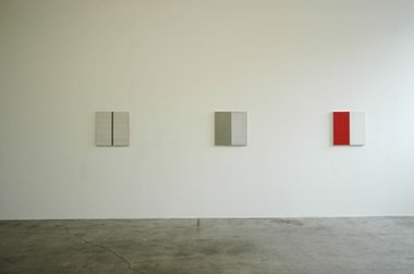 Callum Innes at Jensen: Agitated Vertical, 2009; Untitled No. 147, 2010; Untitled No. 75, 2010