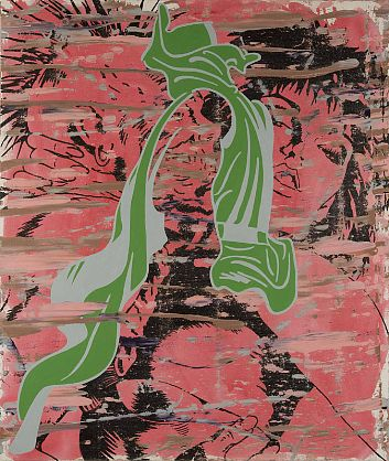 Tjalling de Vries, I can see it baby, its all over your face, 2010, acrylic on canvas, 1220 x 1030 mm