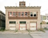 Frank Schwere, Highland Park Fire Department (Gerald St), Detroit, MI, 2009, C-Print, 126cm x 100cm, edition of 10. Courtesy of the artist and Two Rooms.