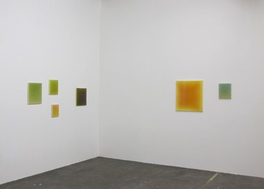 Leigh Martin, resin and pigment on canvas paintings at Fox Jensen.