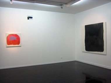Marie Le Lievre works at Antoinette Godkin, from l. to r.: Lady Swine Bag, 2011; Pistol, 2011; Boxed (Lamp black) 2011.