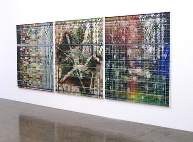 James Cousins, Parks (Parks iv,iii, ii), 2011, oil and acrylic on canvas, triptych -each panel 1700 x 1500 mm