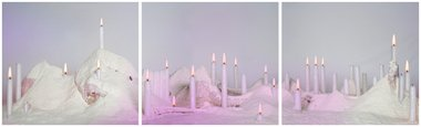 Richard Orjis, Powder, 2010, photographic triptych, 600 x 2060 mm