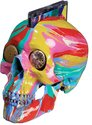 Damien Hirst, The Hours Spin Skull, 2009, household gloss on plastic skull Includes The Hours' latest CD album, See the Light, 210 x 140 x 140 mm