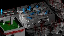 Still from Gregory Bennett's Utopia Part 1, 2011, looped digitally animated DVD.