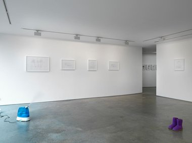 Cory Arcangel, 2011, left to right: Real Taste, Tarus, Three Palms, and Clinton.  A Few Casuals.  Courtesy the artist and Lisson Gallery.