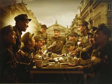 Zhang Xianyong, Last Supper, Red Army, photograph, 2006, 1000mm x 1330mm