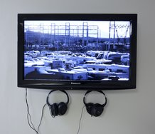 Sean Grattan, Carmen San Diego: Out OF Work And On The Run, 2011. Part of installation at ARTSPACE. Photo by Sam Hartnett.