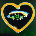 Patrick Hanly, Night Heart and Eye, 1982, oil and enamel on board, 545 x 555 mm