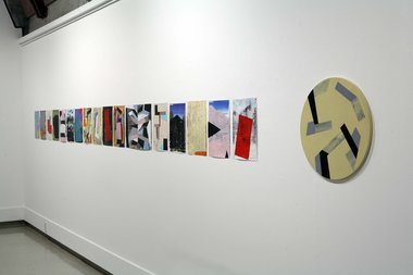 Installation of Tony de Lautour's Recent Paintings at Ilam Campus Gallery