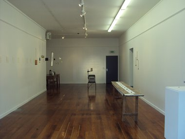 Karren Dale and Julia Middleton, installation of works in Snippets, Scraps and Spectacle