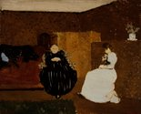Edouard Vuillard,  La Causette (The Chat), 1893,  oil on canvas.  Scottish National Gallery of Modern Art © Trustees of the National Galleries of Scotland