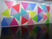 Alexandra Kennedy, Packing Triangles, 2012, acrylic on wall (adaptable site specific work)