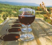 Bill Culbert, Wine Glass Perspective I (1993).39 x 26cm.  Image courtesy of the Artist and Laurent Delaye Gallery