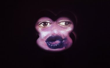 Tony Oursler, Sang, 2008, video projection on polystyrene form