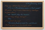 Siliga Setoga, Black Boards, 2010, blackboard, chalk. Courtesy of the artist, Auckland