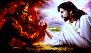 The Devil vs Jesus. Image by Ong Chew Peng.
