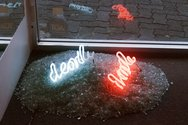 Lisa Benson, Double Death, neon, glass