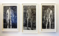 Three of Sam Harrison's woodcuts at Fox Jensen