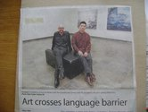 The two artists in Hamilton (Waikato Times newspaper cutting).