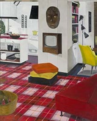 Graham Fletcher | Untitled (from 'Lounge Room Tribalism' series) 2010 | Oil on canvas | Purchased 2010 with funds from the Estate of Lawrence F King in memory of the late Mr and Mrs SW King through the Queensland Art Gallery Foundation |