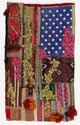 Sara Rahbar | Glorious haze 2012 | Handwoven textiles, silver braid, keys, a brass chain, military emblems, pins, buttons and bullet casings, and a sweet heart pendant from an American World War 2 soldier on vintage American flag | Purchased 2012.