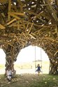 Gregor Kregar, Pavillion Structure, recycled timber, 7000 x 8000 x 8000 mm