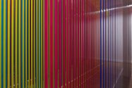 Nike Savvas, Liberty and Anarchy, 2012, plastic strips, at Leeds Art Gallery