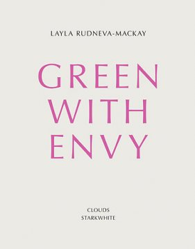 The cover of the Layla Rudneva-Mackay publication, Green with Envy, designed by Warren Olds