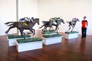Hannah Kidd's The Race as installed at Milford Galleries