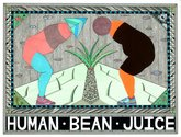 Jess Johnson, Human Bean Juice, 2012. Pen, copic markers, metallic paint, collage on paper