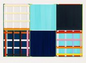 Imi Knoebel, Lllilia, 2013, hand coloured acrylic on paper, 615 x 920 mm