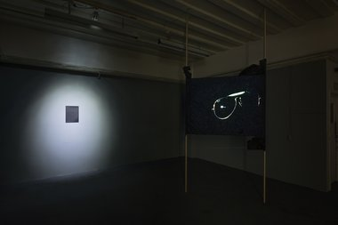Installation of Torben Tilly's Nobody But You (2013) at Audio Foundation. Photo: Matt Henry