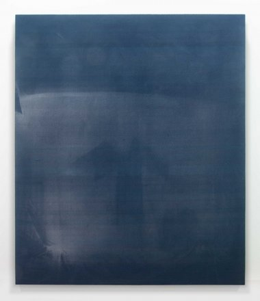 Zac Langdon-Pole, Blue Scene, 2013, sun bleached fabric, 2440 x 2060 mm