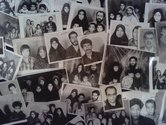 Refugee, found photographs, at Pataka